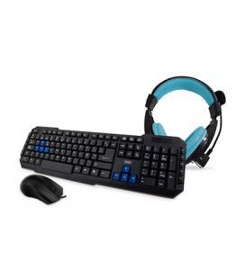 3GO Combo Teclado+Ratón+Auriculares Gaming Negro