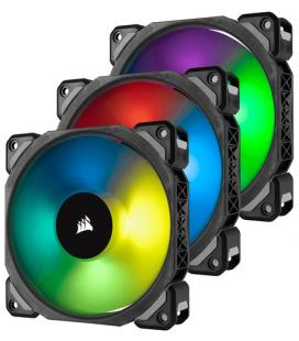 VENTILADOR CAJA CORSAIR ML120 PRO RGB 120MM PREMIUM MAGNETIC LEVITATION RGB LED PWM FAN 3 FAN PACK - Imagen 1