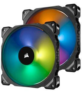 VENTILADOR CAJA CORSAIR ML140 PRO RGB 140MM PREMIUM MAGNETIC LEVITATION RGB LED PWM FAN TWIN FAN PAC - Imagen 1