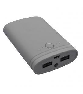 Batería externa universal myway mwchp0094 gris - 7500 mah - incluye cable de carga micro-usb