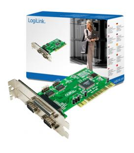 CONTROLADORA PCI 2XSERIE + 1XPARALELO LOGILINK - Imagen 1