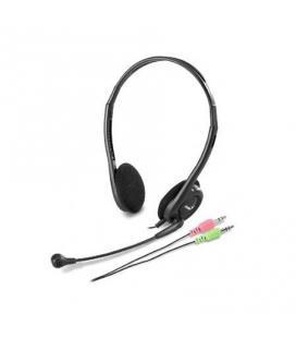 Genius HS-200C Binaurale Diadema Negro auricular con micrófono
