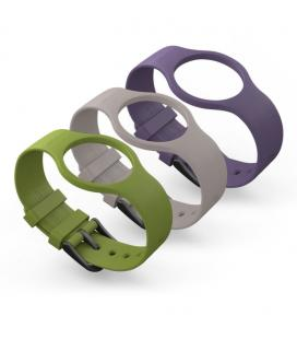Geeksme 3-BAND BOX Verde, Púrpura, Color blanco Correa de reloj accesorio para relojes deportivos