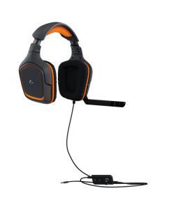Logitech G231 Prodigy Binaurale Diadema Negro, Naranja auricular con micrófono