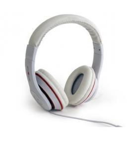 Gembird Los Angeles Binaurale Diadema Blanco auricular con micrófono