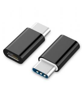 Gembird A-USB2-CMmF-01 USB Tipo C Micro USB Negro adaptador de cable