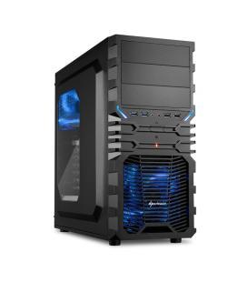 Sharkoon VG4-W Midi-Tower Negro, Azul carcasa de ordenador