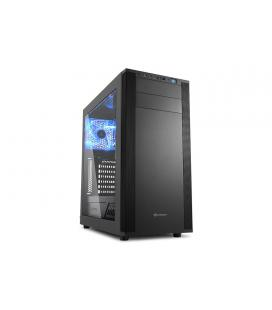 Sharkoon M25-W Midi-Tower Negro carcasa de ordenador