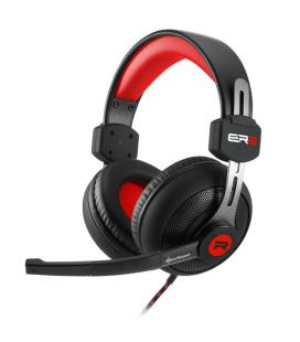 Sharkoon RUSH ER2 Binaurale Diadema Negro, Rojo auricular con micrófono