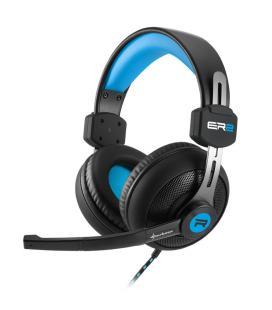Sharkoon RUSH ER2 Binaurale Diadema Negro, Azul auricular con micrófono