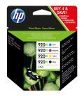 PACK DE 4 CARTUCHOS HP 920XL DE ALTA CAPACIDAD NEGRO/CIAN/MAGENTA/AMARILLO - Imagen 3
