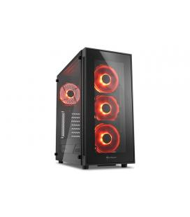 Sharkoon TG5 Midi-Tower Negro carcasa de ordenador