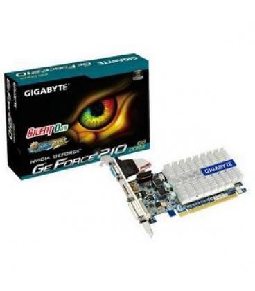 VGA GIGABYTE GT 210 LOW PROFILE 1GB GDDR3 - Imagen 1