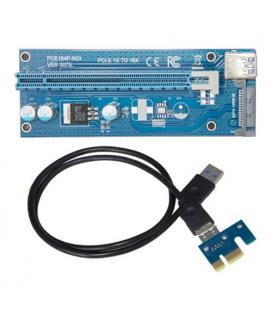 USB-Riser PCI-E 1x a 16x externo con alimentador SATA