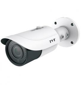 Cámara IP Bullet TVT 8Mpx 4K. Lente motorizada 3,3 a 12mm .IR 50m . POE. E/ Audio. SD. Alarmas