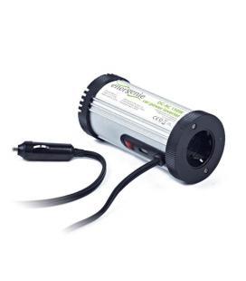EnerGenie EG-PWC-031 Auto 150W Aluminio, Negro adaptador e inversor de corriente