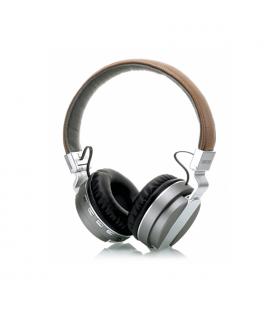 Auriculares Bluetooth 4.1 con Reproductor MicroSD/MP3/Radio FM Gris Fonestar