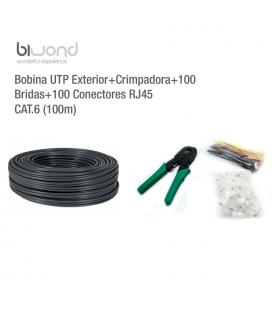 Bobina UTP Exterior 100m Cat.6 + Kit Herramientas BIWOND