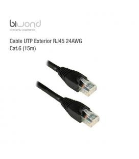 Cable UTP Exterior RJ45 24AWG CAT6 (15m) BIWOND