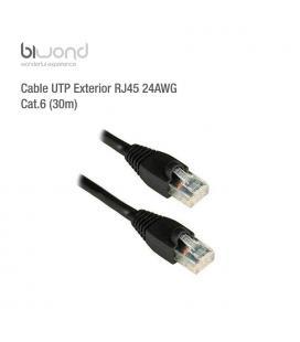 Cable UTP Exterior RJ45 24AWG CAT6 (30m) BIWOND