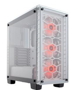 CAJA CORSAIR CRYSTAL 460X RGB MID-TOWER CRISTAL TEMPLADO BLANCA
