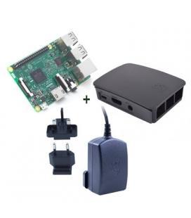 Raspberry kit Pi 3+ caja negra+ fuente 5.1V negra