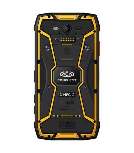 Conquest S11 Rugged Phone - IP68, Android 7.0, Octa Core CPU, 6GB RAM, 5 Inch HD Screen, NFC, OTG, GPS, Fingerprint (Yellow) - I