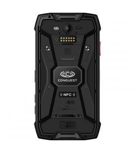 Conquest S11 Rugged Phone - IP68, Octa Core CPU, 6GB RAM, Android 7.0, 5 Inch HD Screen, GPS, Fingerprint, NFC, OTG (Black) - Im