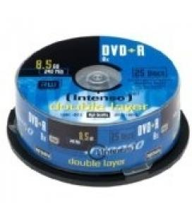 CONSUMIBLE INTENSO DVD+R 8.5GB DL 25PCS 8X TARRINA