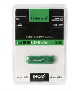PENDRIVE 8GB USB2.0 INTENSO RAINBOW VERDE - Imagen 1