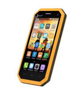 Ken Xin Da W6 Rugged Smartphone - IP68 Waterproof, Dust Proof, Shock Proof, 4G, Android 5.1, Dual SIM (Yellow)