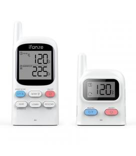 Wireless Barbecue Thermometer - Dual Probes, 100m Wireless Distance, 2 Inch Display, Timing Mode, Alarm Function