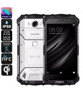 HK Warehouse Doogee S60 Android Phone - Octa-Core, Android 7.0, 6GB RAM, QI Wireless Charging, 1080p, 21MP Cam (Silver) - Imagen