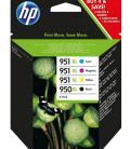 HP Pack de ahorro de 4 cartuchos de tinta original 950XL negro/951XL cian/magenta/amarillo - Imagen 2