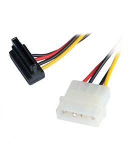 Nanocable 10.19.0201. Cable SATA Alimentación acodado. 16cm