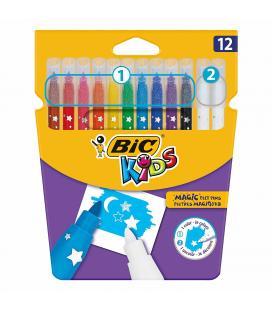 Rotuladores bic kids magic 10 rotuladores + 2 correctores blancos para borrar o crear efectos