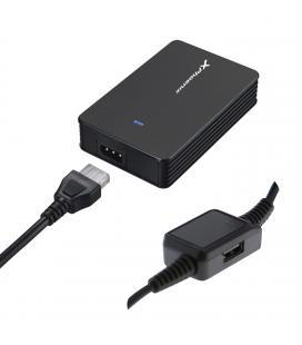 Adaptador cargador de corriente universal automatico  phoenix phcharger40+ 40w  (incluye 5 conectores)  para portatiles y netboo
