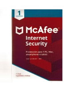 Antivirus mcafee internet security 2018 1 dispositivo - Imagen 1