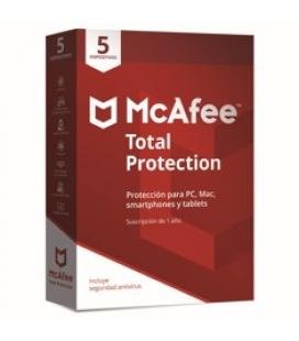 Antivirus mcafee total protection 2018 5 dispositivos - Imagen 1