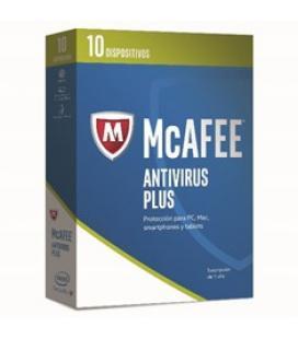 Antivirus mcafee antivirus plus 2017 10 dispositivos - Imagen 1