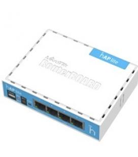 Mikrotik router board rb/9412nd hap lite with 650mhz cpu 32mb ram 4xlan built-in 2.4ghz 802b/g/n 2x2 two chain wireless