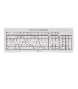 Teclado cherry stream 3.0 usb ultraplano blanco