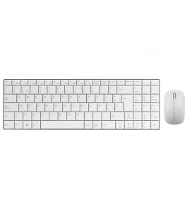 Combo teclado multimedia qwerty phoenix español ultra fino blanco+ raton inalambrico 2.4ghz 1000-2000 dpi blanco