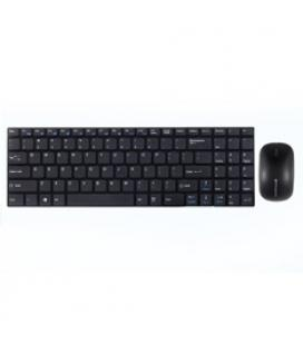 Combo teclado ingles multimedia phoenix ultra fino negro +  raton inalambrico phoenix 2.4ghz 1000-2000 dpi negro