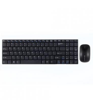 Combo teclado ingles multimedia phoenix ultra fino negro + raton inalambrico phoenix 2.4ghz 1000-2000 dpi negro - Imagen 1