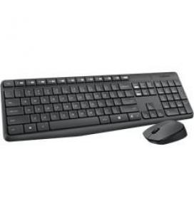Teclado + mouse logitech mk235 wireless portugues