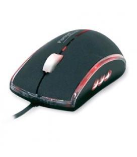 Mini mouse raton con cable retractil phoenix optico iluminado tacto suave cable usb  800dpi