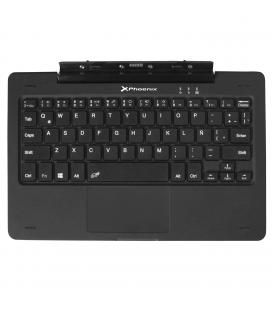 "Teclado para tablet  windows  pc 10.1"" phoenix phswitchkeyboard+ con touchpad / 1 x usb 2.0 / qwerty castellano / compatible con"