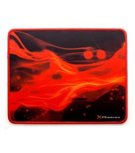 Alfombrilla phoenix phfactorpad-s gaming para mouse raton tamaño s 280 x 220 x 3 mm silicona suave antideslizante rojo y negro