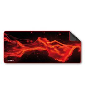 Alfombrilla phoenix phfactorpad-l gaming para mouse raton y teclado tamaño l 850 x 295 x 3 mm silicona suave antideslizante rojo